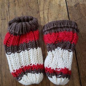 Knit/fleece lined mittens